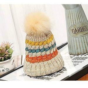 Accessories - Slouchy Knitted Pom Pom Beanie Hat